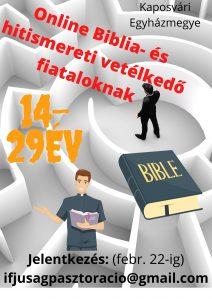 Biblia- és hitismereti online vetélkedő fiataloknak